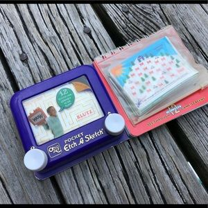 Pocket ETCH A SKETCH With Game Screens & Idea Book